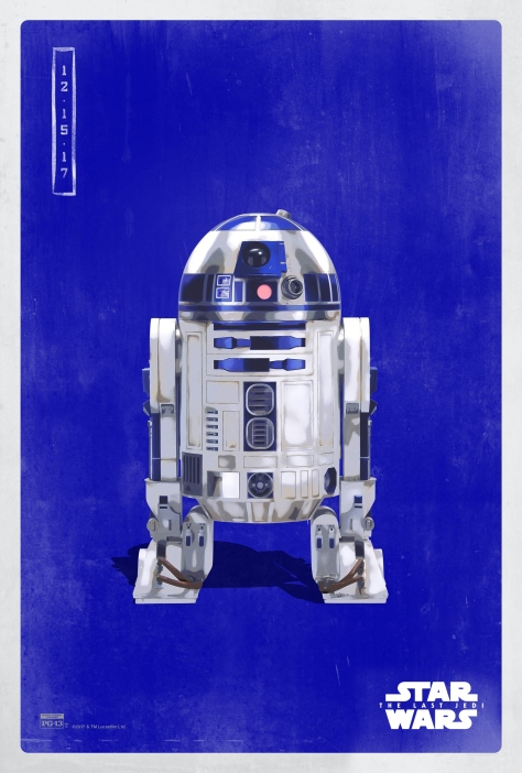 Star Wars The Last Jedi The Light Side Pop Icon Art Print Posters R2-D2
