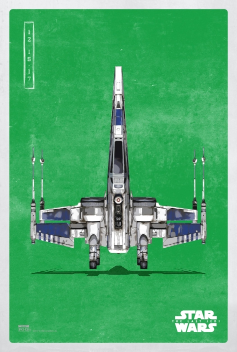 Star Wars The Last Jedi The Light Side Pop Icon Art Print Posters T-75 X-Wing