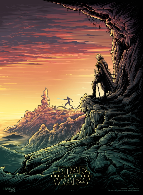 The Last Jedi Dan Mumford IMAX Posters 1 of 4 Luke and Rey