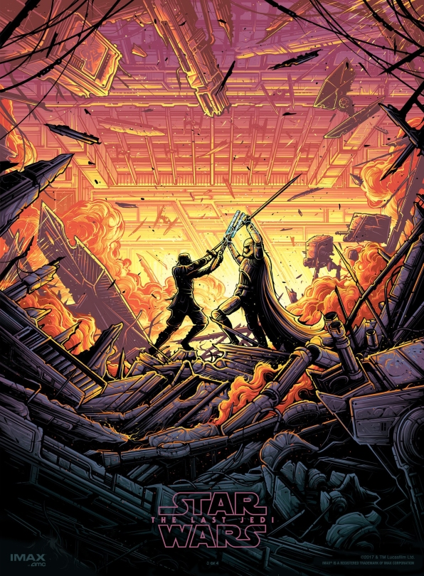 The Last Jedi Dan Mumford IMAX Posters 3 of 4 Finn and Captain Phasma