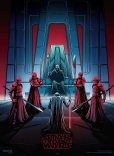 The Last Jedi Dan Mumford IMAX Posters 4 of 4 Kylo Ren and Snoke with the Praetorian Guard