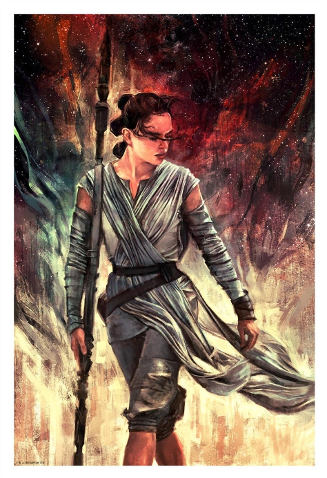 Rey Star Wars Portrait Series by Alice X Zhang