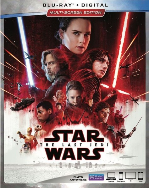 Star Wars The Last Jedi Best Buy Blu Ray Digital Packaging Cover