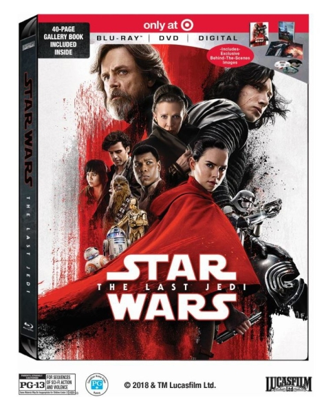 Star Wars The Last Jedi Blu Ray DVD Digital Packaging Cover