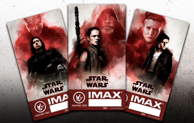 The Last Jedi IMAX Regal Collectible Tickets