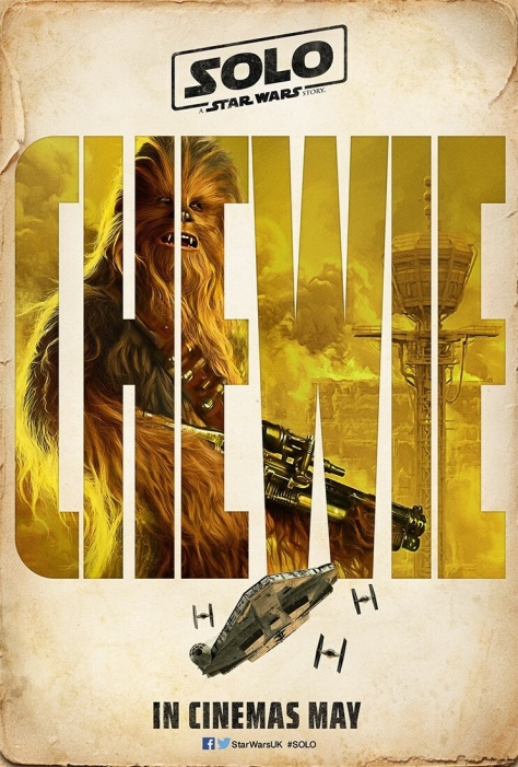 The SOLO : A Star Wars Story Vintage Teaser Posters - Chewbacca