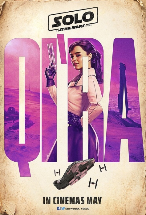 The SOLO : A Star Wars Story Vintage Teaser Posters - Qi'Ra