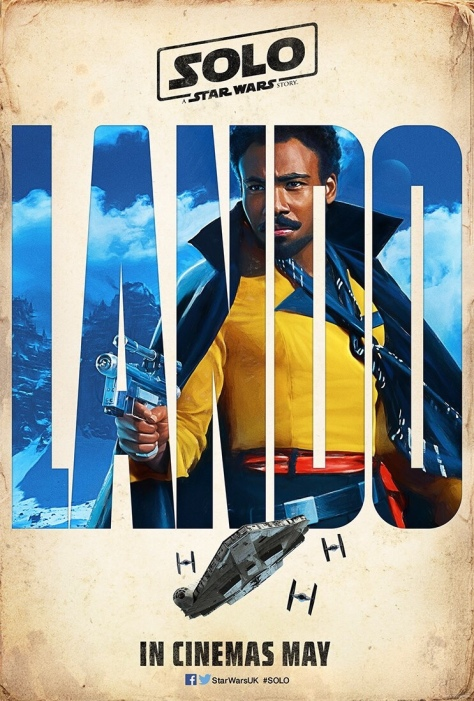 The SOLO : A Star Wars Story Vintage Teaser Posters - Lando