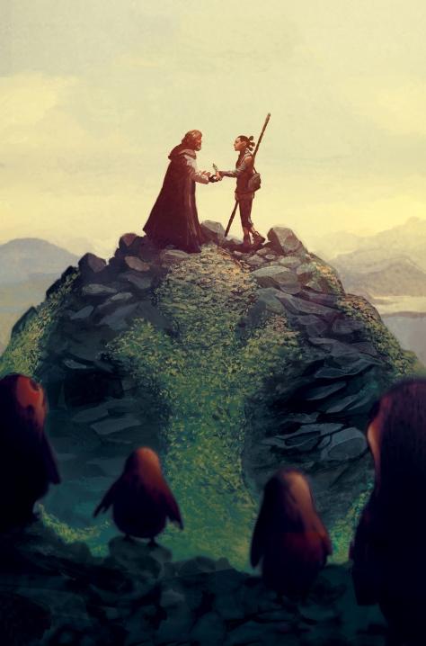 Marvel Star Wars The Last Jedi Clean Cover by Mike del Mundo