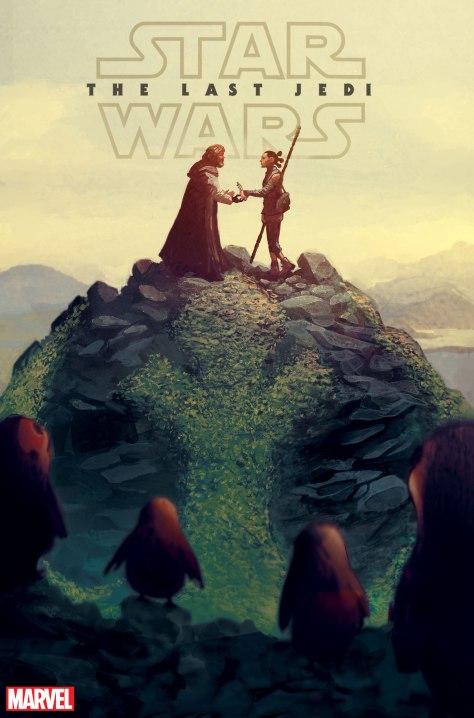 Marvel Star Wars The Last Jedi Cover by Mike del Mundo