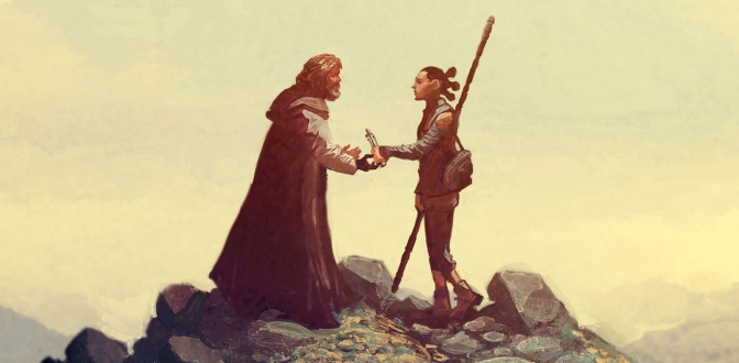 Marvel Star Wars The Last Jedi Header Cover by Mike del Mundo