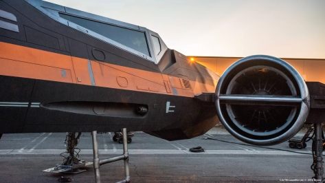 Poe Dameron's Black X-Wing Star Wars Galaxy's Edge Lucasfilm Disney