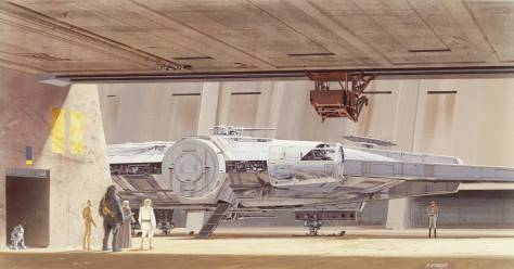 Ralph McQuarrie Millennium Falcon SOLO A Star Wars Story Hi Res
