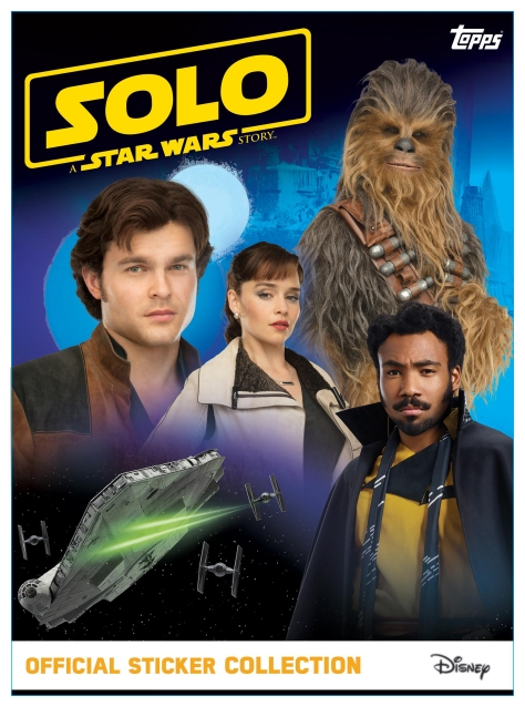 SOLO - A Star Wars Story Topps STICKER ALBUM  Cover Ultra Hi Resolution