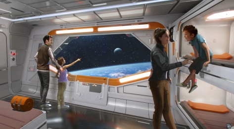 Star Wars Hotel at Galaxy's Edge Hotel Room Concept Art Lucasfilm Disney