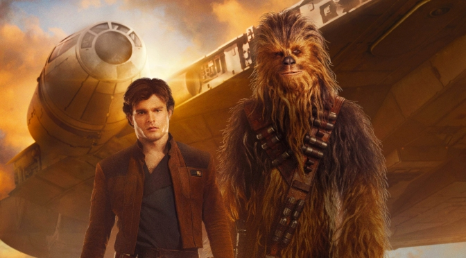 Solo A Star Wars Story Film Poster Han Chewie and the Millennium Falcon Banner