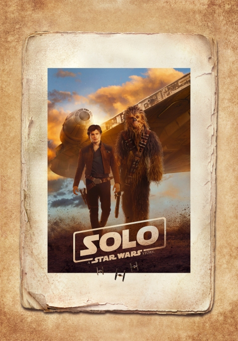 Solo A Star Wars Story Film Poster Han Chewie and the Millennium Falcon Edit