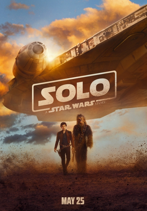 Solo A Star Wars Story Film Poster Han Chewie and the Millennium Falcon Ultra Hi Res English Version