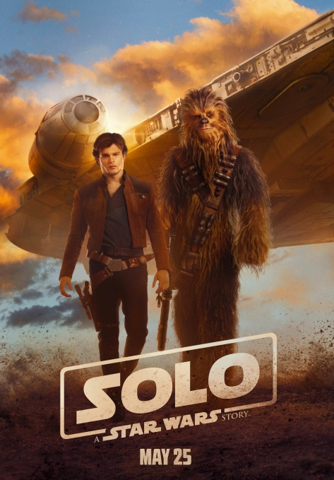 Solo A Star Wars Story Film Poster Han Chewie and the Millennium Falcon Ultra Hi Res