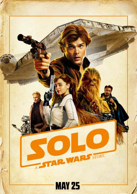 American Textless version of Japanese Solo A Star Wars Story poster