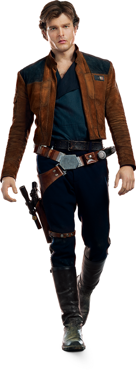 Characters of SOLO A Star Wars Story - Han Solo - Transparent Background PNG