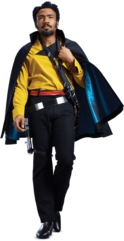 Characters of SOLO A Star Wars Story - Lando Calrissian - Transparent Background PNG