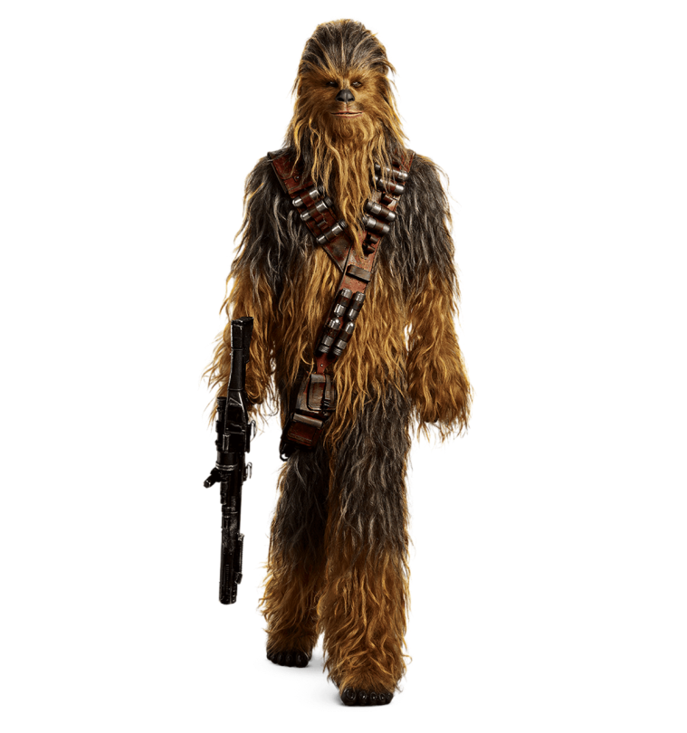 Chewie Solo A Star Wars Story Cut Out Characters with Transparent Background PNG