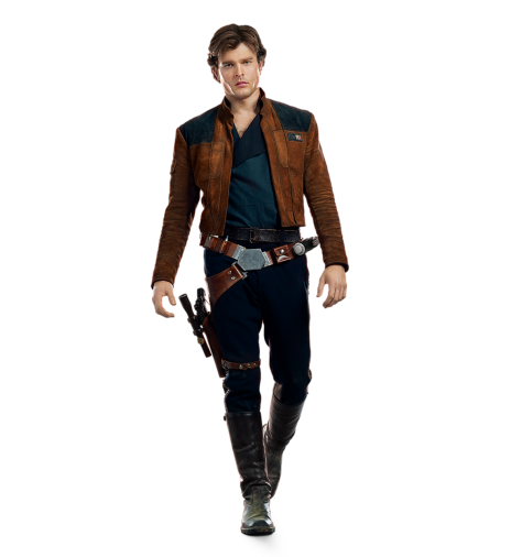 Han Solo A Star Wars Story Cut Out Characters with Transparent Background PNG