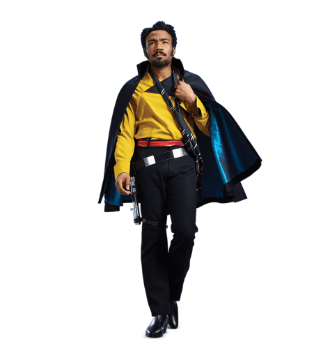 Lando Calrissian Solo A Star Wars Story Cut Out Character copys with Transparent Background PNG