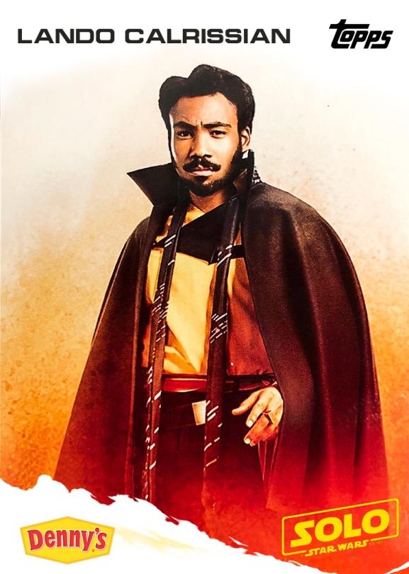 Lando Calrissian Topps Trading Card Dennys - SOLO A Star Wars Story