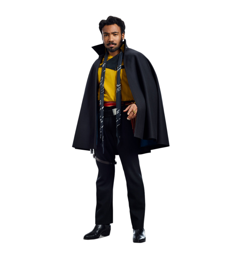 Lando Solo A Star Wars Story Cut Out Characters with Transparent Background PNG