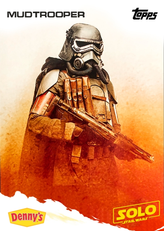 MudTrooper Topps Trading Card Dennys - SOLO A Star Wars Story