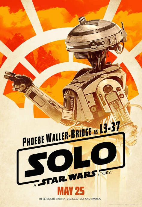 New Solo A Star Wars Story L3-37 Character Posters Large Hi Resolution