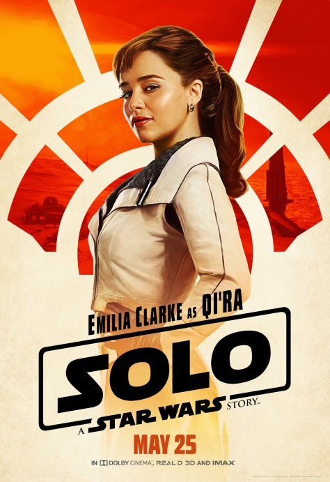 New Solo A Star Wars Story Qi'ra Character Posters Large Hi Resolution