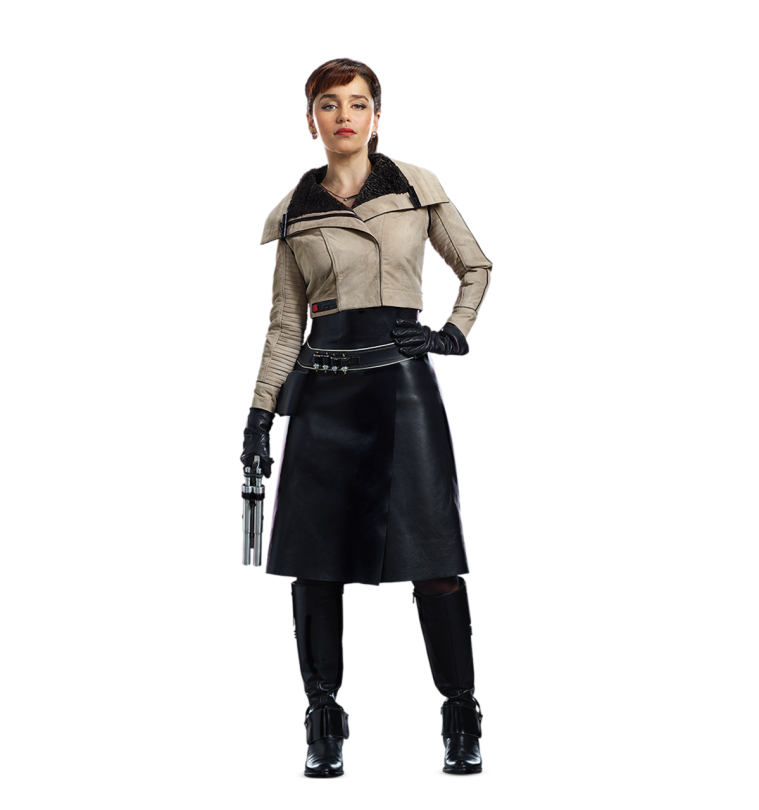 QiRa Solo A Star Wars Story Cut Out Characters with Transparent Background PNG