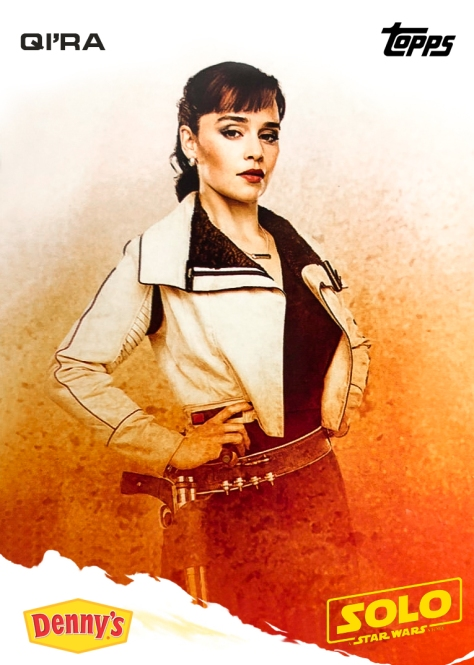 Qi'Ra Topps Trading Card Dennys - SOLO A Star Wars Story