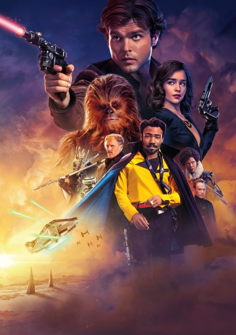 SOLO A Star Wars Story UK Theatrical Textless Poster - Super Hi Resolution