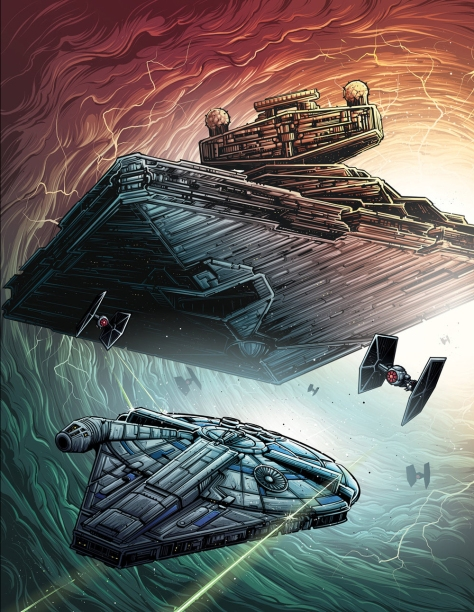 Textless version of Dan Mumford Star Wars Solo A Star Wars Story Empire Magazine Cover