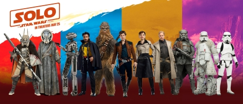 The Characters of SOLO Character Banner