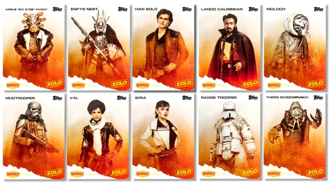 SOLO : A Star Wars Story – Denny's TOPPS Trading Cards