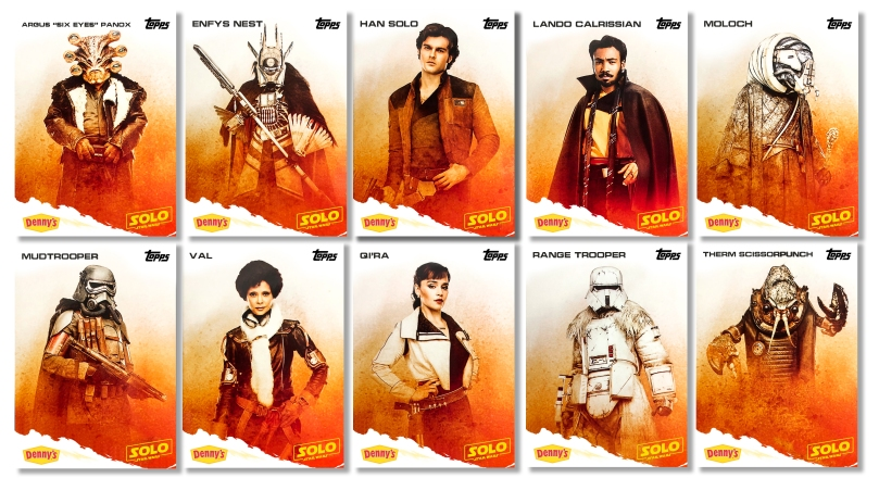 Topps Trading Card Dennys - SOLO A Star Wars Story