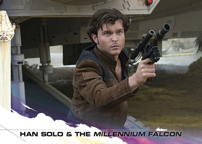 Topps Trading Cards Countdown to Solo A Star Wars Story - No 1 - Han Solo and The Millennium Falcon