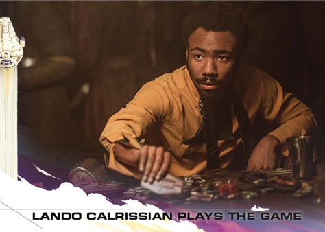 Topps Trading Cards Countdown to Solo A Star Wars Story - No 2 - Lando Calrissian plays the Sabacc Game