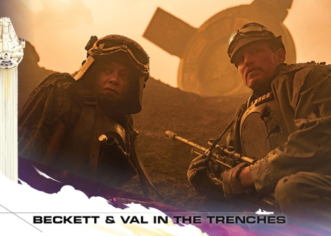 Topps Trading Cards Countdown to Solo A Star Wars Story - No 4 - Beckett and Val in the Trenches