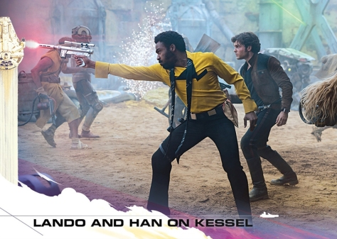Topps Trading Cards Countdown to Solo A Star Wars Story - No 7 - Lando and Han on Kessel