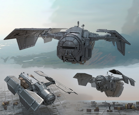 Art of SOLO A Star Wars Story - Early concept for the AT Hauler