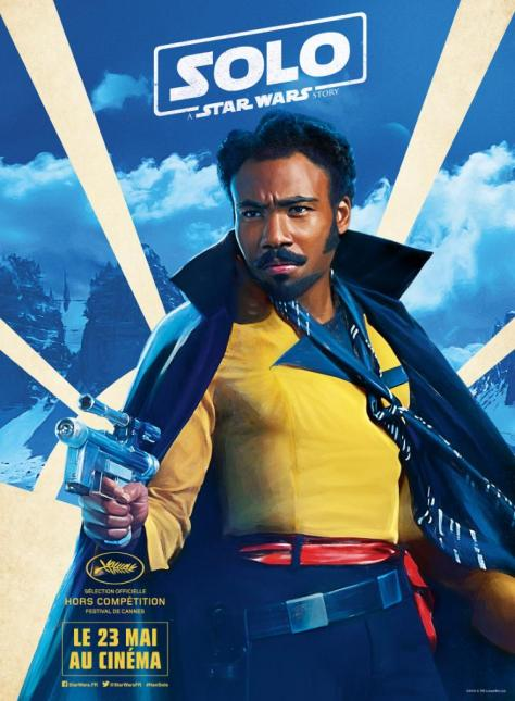 Festival de Cannes Out of Competition Solo A Star Wars Story Character Posters - Lando