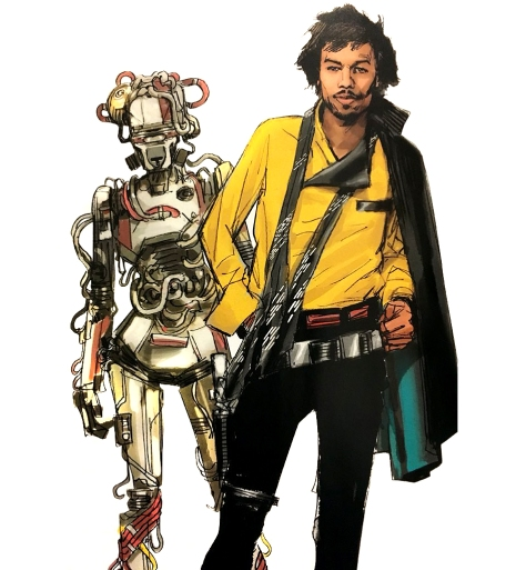 Lando and L3_37 Concept Art Solo A Star Wars Story