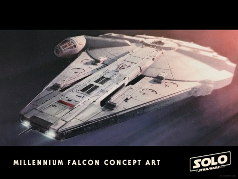 Millennium Falcon Concept Art Solo A Star Wars Story