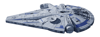 Millennium Falcon - Modified Corellian Engineering Corporation YT-1300 Light Freighter